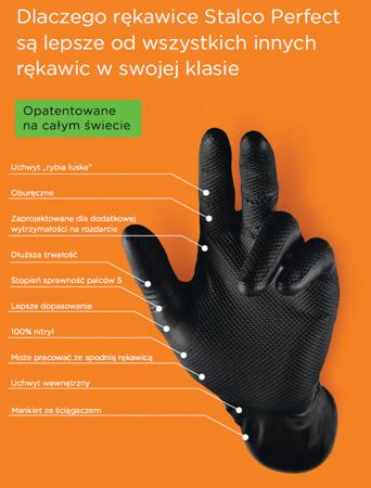 Rękawiczki nitrylowe kategoria III długie 50 szt