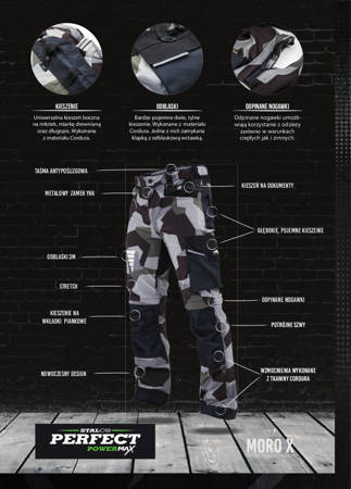 Stalco Spodnie robocze moro PowerMax